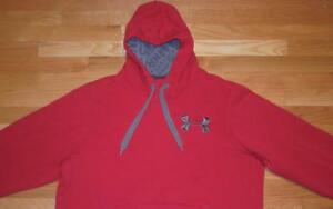 UNDER ARMOUR STORM MENS HOODIE SWEATSHIRT HOODED COLD GEAR XL CHARGED COTTON EUC