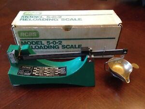 RCBS OMARK MODEL 502 RELOADING SCALE MFGD BY OHAUS SCALE CORPORATION