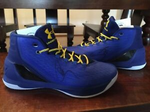 Signed Steph Curry Under Armour 3 Shoes Warriors Beckett BAS Coa Stephen Auto