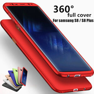 For Samsung Note 9 Note 8 360° Full Cover Shockproof Case Cover+Screen Protector