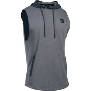 Under Armour Sportstyle Sleeveless Hooded Mens T-shirt Sports Top - True Grey