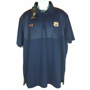 New Under Armour Auburn Tigers Coaches Sideline Polo Size 2XL Loose Heat Gear