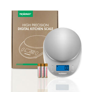 Tenergy High Precision Digital Kitchen Scale Stainless Steel Food Scales LCD $13.97