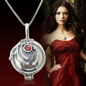 US Ship The Vampire Diaries Elena's Vervain Pendant Antique 925 Sterling Silver