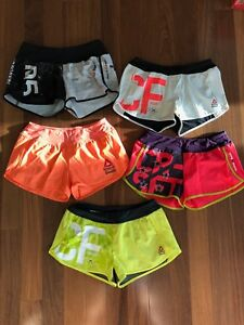 Lot of 5 REEBOK CROSSFIT Women's Shorts in Size Small - Ass to Ankle Style