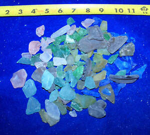 1 2 POUND MIXED LOT OF SEA GLASS SEAGLASS Seashell Craft Wedding Decor