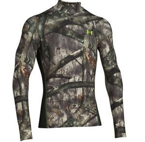 under armour mens coldgear infrared scent control tevo mock shirt camo treestand