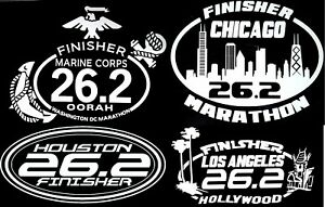 Marine CorpsChicagoHouston LA Marathon Combo Decals
