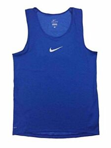 NIKE Dri Fit Aeroreact Men's Running Sleeveless Tank Top Shirt Blue