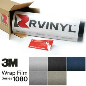 3M 1080 Brushed Aluminum Vinyl Vehicle Car Wrap Decal Film Sticker Sheet Roll