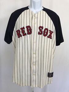 Cooperstown Collection Boston Red Sox Button Down Baseball Jersey Shirt Appliqué