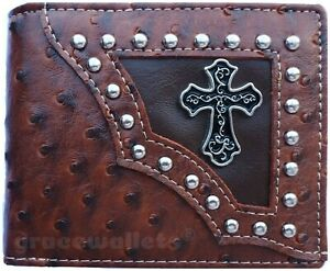 Bullet Mens Wallet Western Bifold Check Book Style W1111 Camo Black