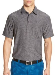 NWT Men's Under Armour Loose Fit Short Sleeve Polo Carbon Heather XXL $64.99