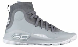 Under Armour Curry 4 - Boys' Grade School Overcast GreyGraphiteWhite 5995-112