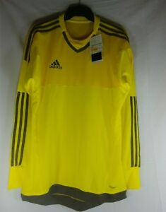 Adidas Dry fit Men's Size Small Yellow and Gray Long Sleeve Shirt
