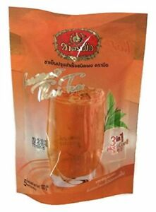 Number One Brand Instant Thai Tea 3 in 1 Tea Drinks Both Hot and Cold 2 Bags ...