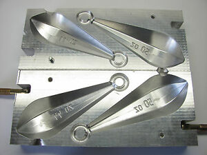 Mold for fishing lead sinkers 50oz and 44oz (CNC Aluminum)