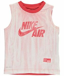 NIKE Little Boys' Toddler Dri-Fit Sleeveless T-Shirt - Track Red 2t