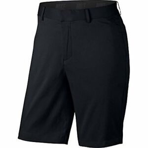 Nike Mens Flat Front Stretch Golf Shorts Black