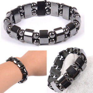 Black Magnetic Bracelet Beads Hematite Stone Therapy Health Care Jewelry