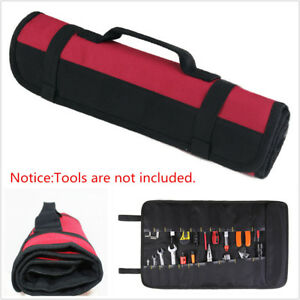 Car Tool Screwdriver Spanner Storage Pocket Reel Rolling Carry Bag Oxford Pocket