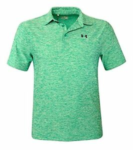 Under Armour Men's UA Elevated Heather Polo Shirt Anti Odor Athletic Top green