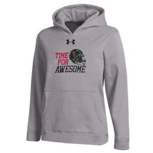 Youth Heather Gray Texas Tech University Under Armour Hoodie