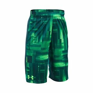Under Armour Boys' Eliminator Printed Shorts Lime Light (884) Youth X-Large