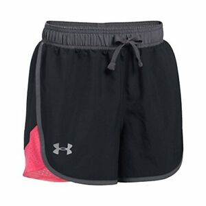 Under Armour Girls' Fast Lane Shorts BlackGala Youth Small