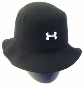 NEW Under Armour Performance Heat Gear Black SMMD Bucket HatCap