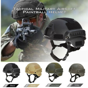 JJW Tactical Military Airsoft Paintball Helmet Protector with Sport Camera Mount