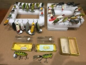 Lot of 41 Fred Arbogast Vintage Fishing Lures Jitterbugs & Hula Poppers