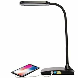 Ivy LED Desk Lamp With Built in USB Outlet Port 3-Way Touch Switch For Home Room