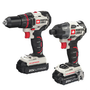 Porter Cable PCCK618L2R 20V MAX 2 Tool Combo Kit 1.3 Ah Certified Refurbished $139.99