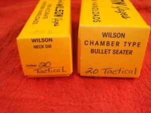 L.E. WILSON .20 TACTICAL NECK AND SEATER DIES