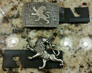 Express designer belt buckles qty 2 men made in italy excellent condition