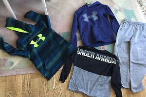 Lot 4 Boys Under Armour  Hoodie Tops  PANTS YOUTH M YMD ALL IN GREAT COND.