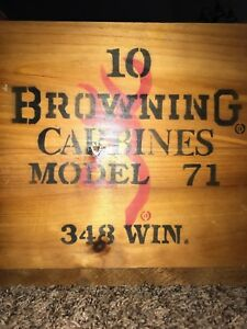 Browning Model 71 Carbine crate for 10 rifles - 348 Winchester - collector's box