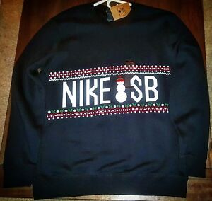 Nike SB Concepts CNCPTS Ugly Christmas Sweater sweatshirt dunk HIGH DEADSTOCK