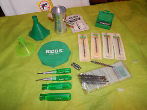 RCBS case prep tools handles deburring tool trickler and others