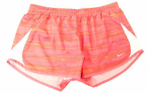 Nike Women's 5K Tempo Printed Running Athletic Shorts Red Print