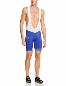 Odlo Men's Running Tights Shorts with Suspenders Flash X blue indigo Size:Small