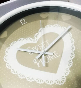 Wall Clock Ø13in Furniture Home Sweet House Gift Idea Battery Included