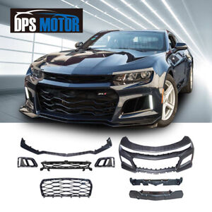 ZL1 Style PP Black Front Bumper Grill Body Kit For 16-18 Chevrolet Camaro