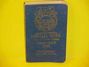 1954-1962 KELLEY BLUE BOOK NEWUSED CAR AUTO PRICES VALUE GUIDE BOOK 3-462