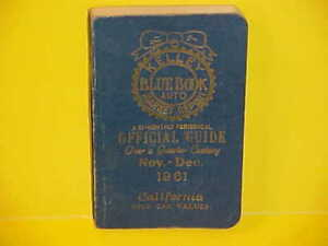 1953-1961 KELLEY BLUE BOOK NEWUSED CAR AUTO PRICES VALUE GUIDE BOOK 11-1261