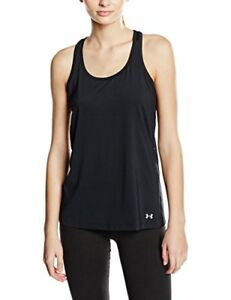 Under Armour Women's Running Shirt Short Sleeve Tank Vent Black black Size:L
