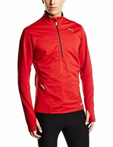 PUMA PWR Warm Men's Long-Sleeved Shirt 1  2 Zip Red Scooter Size:XXL