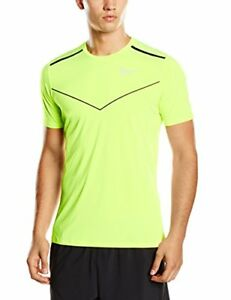NIKE Men's Running Racing Short- Sleeved T-shirt Yellow VoltBlackReflective...
