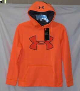 New Boy's Under Armour Loose Fleece Storm Hoodie YMD (8-10)